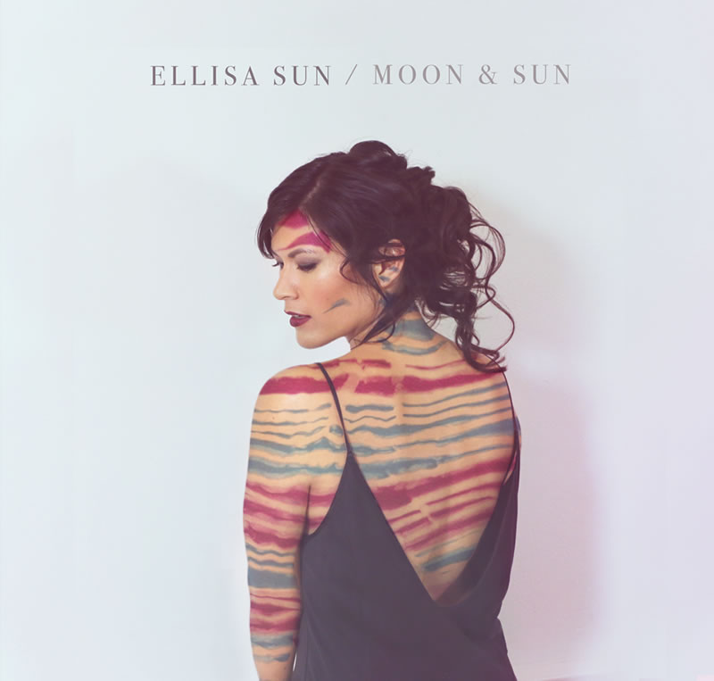 Ellisa Sun on the cover of her Moon & sun album.